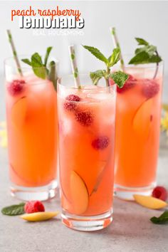 Peach Raspberry Lemonade