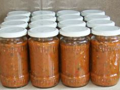 Salsa, Mason Jars, Food And Drink, Legumes, Vegetables, Pasta Salad, Recipes, Preserves, Mason Jar