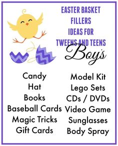 Easter basket ideas for tween and teen boys