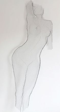 Figure sculptures made from chicken wire: