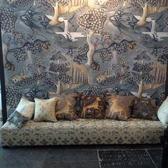 Melissa White's wallpaper for Zoffany: Arden. Maastricht showroom