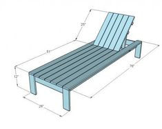 DIY Furniture Plan from Ana- Single lounger for the Simple Modern Outdoor Collection. Features simple prop-up back with adjustable positions. Lawn Furniture, Diy Furniture Plans, Pallet Furniture, Outdoor Furniture, Lounge Furniture, Furniture Storage, White Furniture, Palette Deco, Pool Chairs