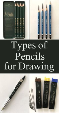Guide for types of drawing pencils including wooden pencils, mechanical pencil, graphite sticks and more. pencil drawing supply, equipment and materials Best Mechanical Pencil, Mechanical Pencils, Pencil Drawing Tutorials, Drawing Tips, Drawing Techniques, Drawing Ideas, Animal Drawings, Cool Drawings, Realistic Drawings
