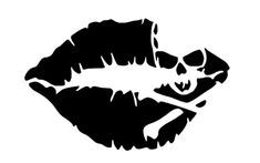 Kiss Mark Skull Lip Sexy Decal Sticker Girl Lipstick For Laptop Cars Truck Window Bumper Stickers Kiss Mark, Girls Lipstick, Totenkopf Tattoos, Color Switch, Kiss Of Death, Silhouette Cameo Projects, Skull And Crossbones, Vinyl Projects, Vinyl Designs