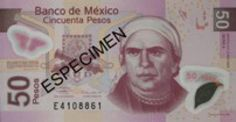 Get familiar with Mexican currency before you travel to Mexico: 50 Pesos