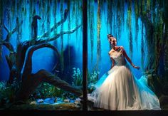 Ralph & Russo designed the dress for the Princess and the frog for harrods shop windows