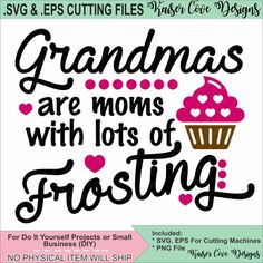 SVGEPS Cutting File Grandmas Are Moms With by KaiserCoveDesigns