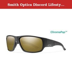 Smith Optics Discord Lifestyle Polarized Sunglasses, Matte Black/Chromapop Bronze Mirror. Smith Sport Optics sets the standard for high performance sunglasses, goggles and helmets. Smith innovations include the patented Regulator lens ventilation system, distortion-free Tapered Lens Technology, and the versatility of the Slider Series. Smith Optics is synonymous with innovative and top-quality products in the eyewear, goggle and helmet markets. Discord Unisex Sunglasses from Smith Optics...