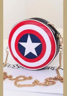 Captain America shield flag shoulder bag by ClotheforWomen on Etsy