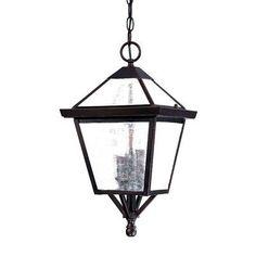 Acclaim Lighting Charleston 3 Light Outdoor Hanging Lantern Finish: Architectural Bronze