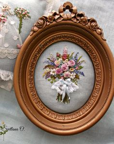 Wonderful Ribbon Embroidery Flowers by Hand Ideas. Enchanting Ribbon Embroidery Flowers by Hand Ideas. Hardanger Embroidery, Rose Embroidery, Silk Ribbon Embroidery, Hand Embroidery Patterns, Embroidery Stitches, Embroidery For Beginners, Embroidery Techniques, Brazilian Embroidery, Creations
