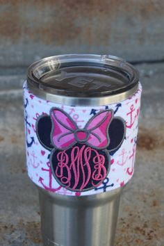 Minnie Mouse yeti,Disney yeti decal, Disney yeti, anchor yeti decal, yeti accessories, Disney Cruise, Mongrammed polka dot cup,nautical yeti by CupConfections on Etsy https://www.etsy.com/listing/252617423/minnie-mouse-yetidisney-yeti-decal