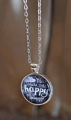 You Make Me Happy Chalkboard Necklace