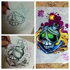 new-school-tattoo-flash-new-school-tattoo-new-school-tattoo-flash ...