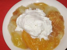 "Peach Cobbler, The Old ""Cuppa"" Recipe"