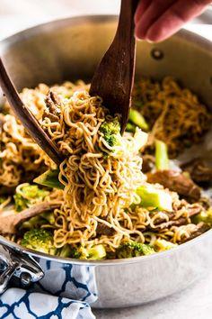 30 Minute Beef and Broccoli Ramen