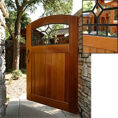 Craftsman Mission Diamond Side Yard Wood Gate  100% Solid Wood,   Heirloom Quality Craftsmanship  Item # 472351