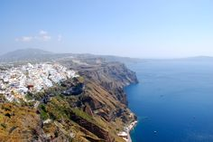 View From The Cliff. Santorini, Greece