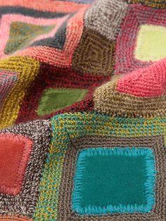 sophie digard crochet scarf Manta Crochet, Freeform Crochet, Crochet Art, Crochet Motif, Crochet Shawl, Crochet Designs, Knitting Patterns, Crochet Patterns, Crochet Fashion