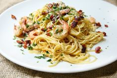 Shrimp Spaghetti Carbonara