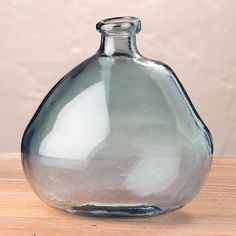 VivaTerra Askew Recycled Glass Balloon Vase Color: