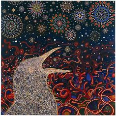 FRED TOMASELLI Starling, 2010 Photo collage, acrylic and resin on wood panel 80 x 80 in