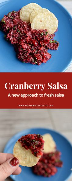 Try this fresh and delicious approach to salsa! Cranberries aren't just for Thanksgiving anymore Cranberry Salsa, Fresh Salsa, Cranberries, Food To Make, Grains, Thanksgiving, Rice, Beef, Meat