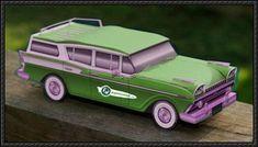 AMC Ambassador Station Wagon Free Car Paper Model Download
