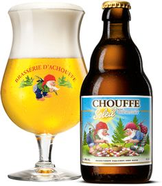 CHOUFFE Soleil is a blonde special beer, delicately fruity and deliciously refreshing. The ideal beverage to celebrate the arrival of the fine weather. CHOUFFE Soleil is an unfiltered beer which is refermented both in the bottle and in barrels