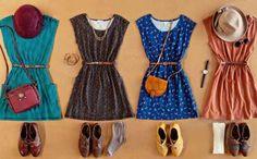 Para um ar retrô, combine vestidinho com sapato oxford.