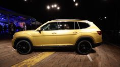 Volkswagen rolls out the new Atlas SUV     - Roadshow  Roadshow  News  SUVs  Volkswagen rolls out the new Atlas SUV  The 2018 Volkswagen Atlasthis is it!  VW aims to conquer the US market with its new 7-passenger SUV.                                                      by Emme Hall  Close  Drag  If any vehicle was carrying the weight of the world on its shoulders its the 2018 Volkswagen Atlas. Built with the American market in mind VWs new 7-passenger SUV has the heady task of reclaiming…