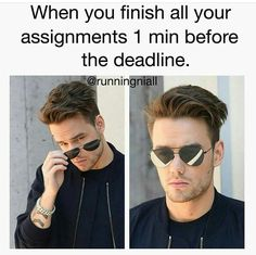 Me with writing midterms, lol. Once, I woke up at five the day it was due, and wrote my rough draft in about twenty minutes. Then I edited it an hour later. I actually got a half decent grade seeing how I did the work.