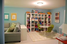 fun family room ideas | Fun and Functional Family Playroom - Kids Room Ideas
