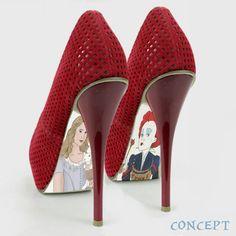 Custom hand painted Alice in Wonderland Shoes. $50.00, via Etsy.