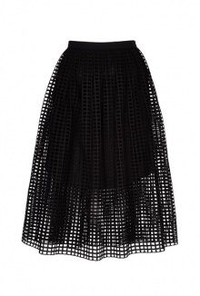 perforated cotton skirt by Carven