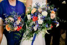 Www.sophisticatedfloral.com Bridal bouquet wedding flowers Peach blush navy blue