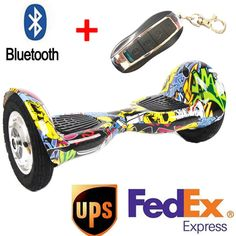 10 inch 2 wheel smart self balance electric scooter Secure battery/Bluetooth/Remote standing drift board hoverboard