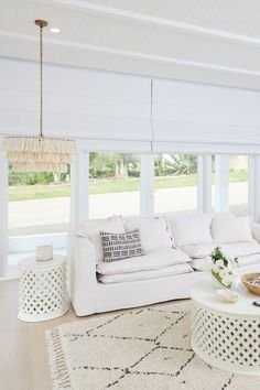 Luxaflex Roman Shades, Adult's Retreat/Media Room - Three Birds Renovations House 8, Bonnie's Dream Home
