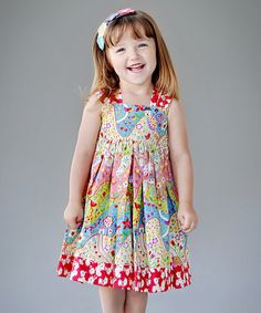 Take a look at this Pink Willow Grove Reverse Knot Dress - Toddler & Girls by Jelly the Pug on #zulily today!