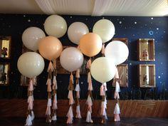 Squiggly Spheres, Tower Spheres, 3 foot balloons & Flowers