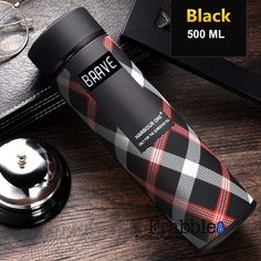 Double Wall Vacuum Insulated Stainless Steel Water Bottle, Travel Thermos Flask- 500 ML (Midnight Black- Brave) Water Bottle Online, Kitchen Storage Containers, Carbonated Drinks, Vacuum Flask, Brave, Vacuums, Stainless Steel, Black Water, Steel Water
