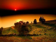 The wonderful sunset in Tabraia, Tiberias , the sea of Galilee