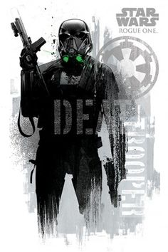 Star Wars Rogue One Death Trooper Grunge Maxi Poster