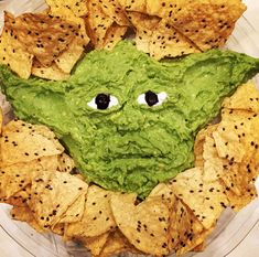 Yoda guacamole = yodamole Star Wars Christmas party hit!