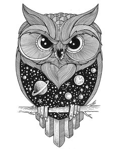 My name is Thiago Bianchini and I am an illustrator and graphic designer. Two years ago I started creating this series of illustrations using fine-tipped ink pens. Inspired by double exposure photography, I brought this universe to my drawing world. Illustration Art Nouveau, Owl Illustration, Double Exposition, Dotted Drawings, Easy Drawings, Stippling Art, Owl Art, Drawing Techniques, Double Exposure