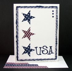 Blue, Stars and Stripes by Rox71 - Cards and Paper Crafts at Splitcoaststampers