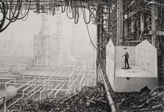 Laurie Lipton Draws Epic and Meticulous Fantastical Dystopian Worlds  23521646370_a885d67a8e_b