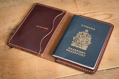 Tan Leather Passport Case