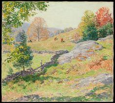 Willard Metcalf (American,1858–1925). Hillside Pastures—September, 1922. The Metropolitan Museum of Art, New York. Bequest of Miss Adelaide Milton de Groot (1876–1967), 1967 (67.187.134)