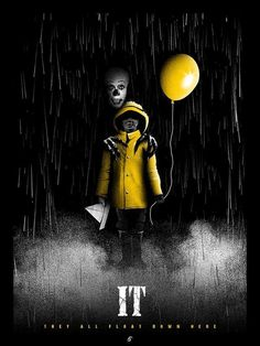 """It (1990) - """"Your every fear - all in one deadly enemy."""" - - #horror #movie #poster"""
